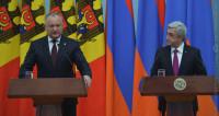Додон и Саргсян обсудили в Ереване товарооборот и развитие туризма
