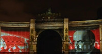 Революцию 1917 года показали на зданиях Петербурга