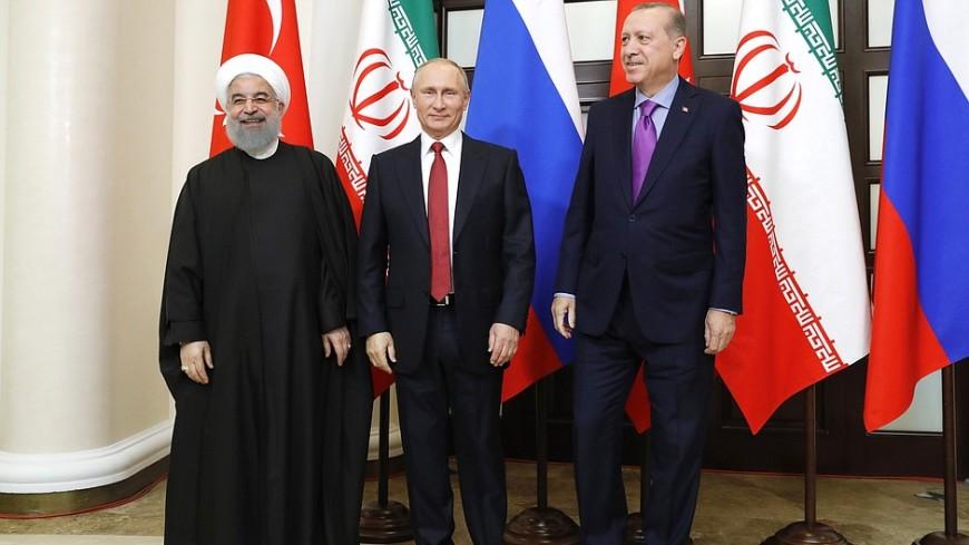 Путин предложил Эрдогану и Рухани создать программу возрождения Сирии