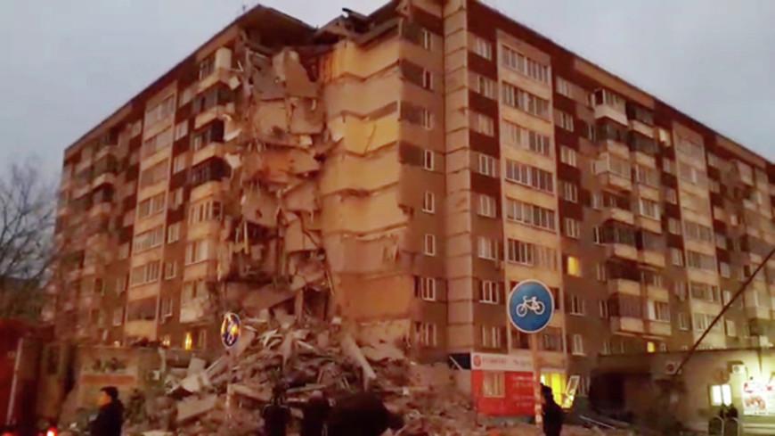 ЧП в Ижевске: подъезд девятиэтажки мог рухнуть из-за взрыва газа