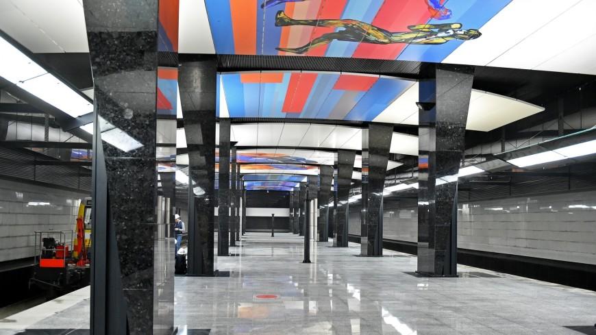 Настанции московского метро «ЦСКА» установили скульптуры спортсменов