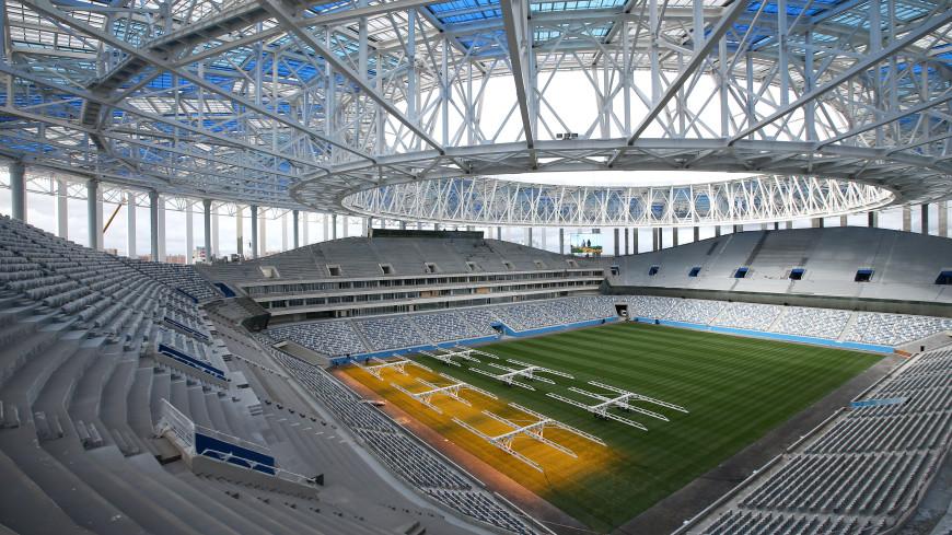 На стадион в Нижнем Новгороде достроили кровлю