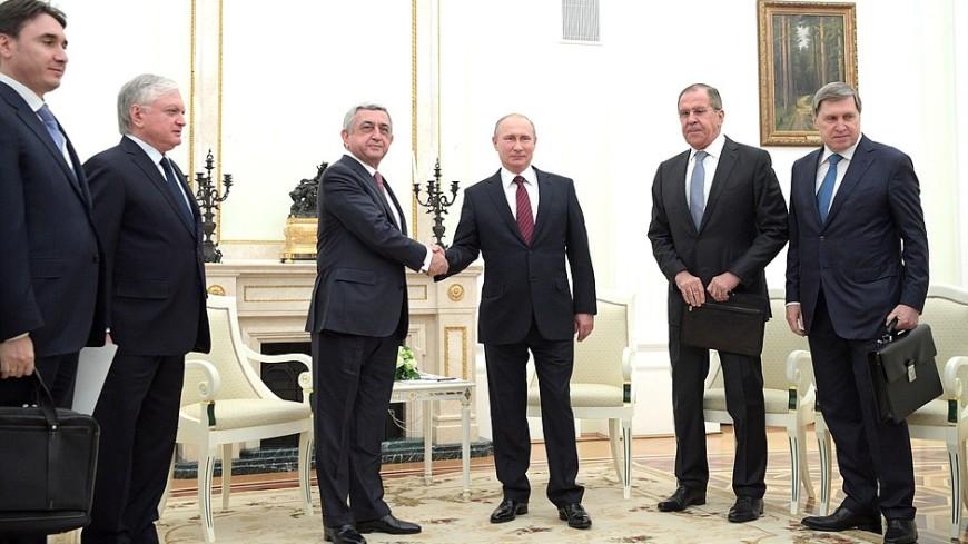 Путин высоко оценил уровень взаимодействия России и Армении