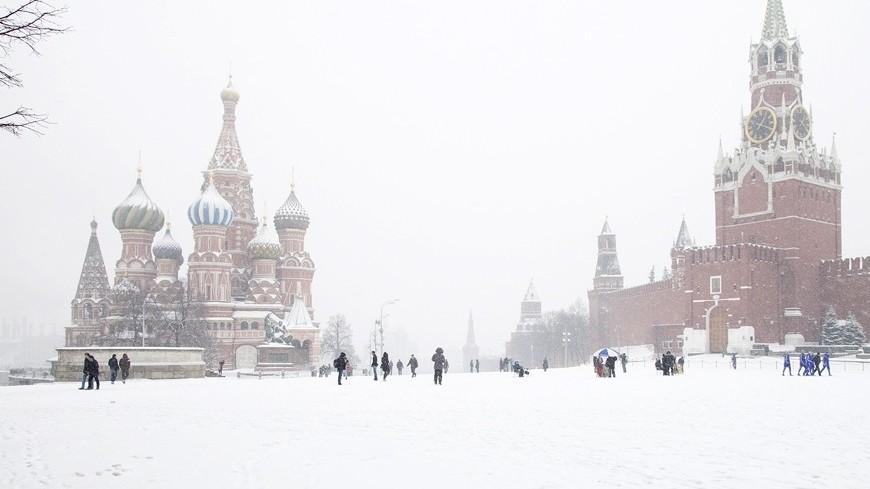 На Москву надвигается снежная буря
