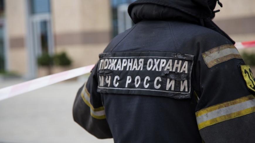 Вмосковском районе Ясенево произошел пожар