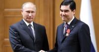 Путин вручил Бердымухамедову орден Александра Невского