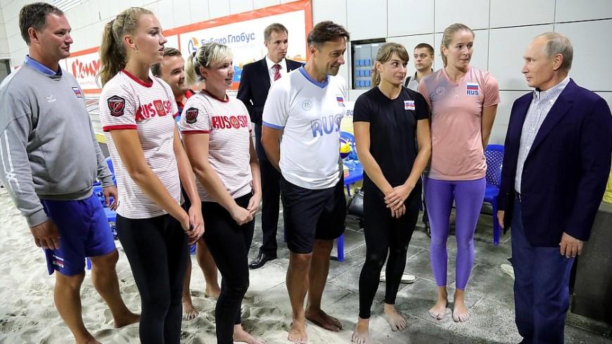 «Я просто рот открыл»: Путин в Сочи поделился впечатлениями от пляжного волейбола