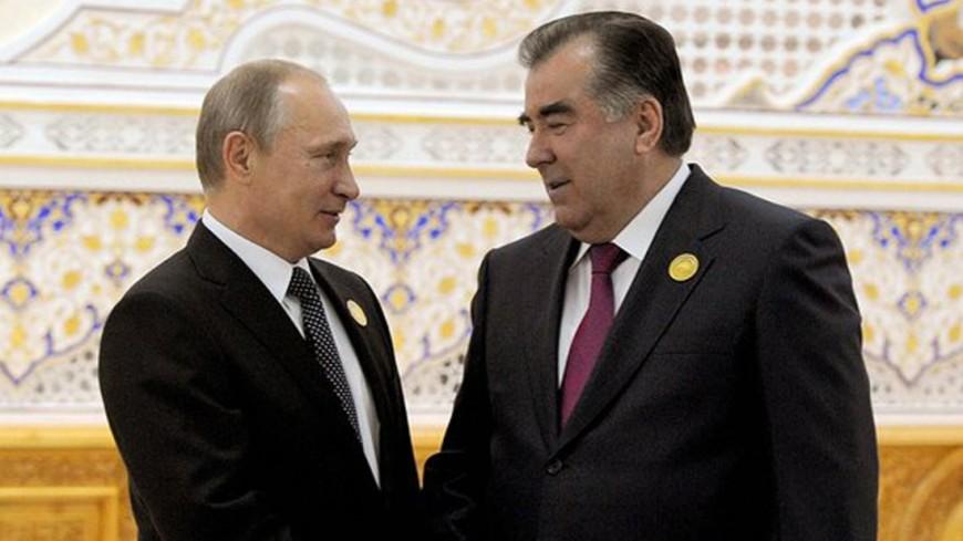 Путин поздравил президента Таджикистана с65-летием