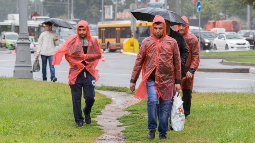 Москва «пожелтела» из-за дождей