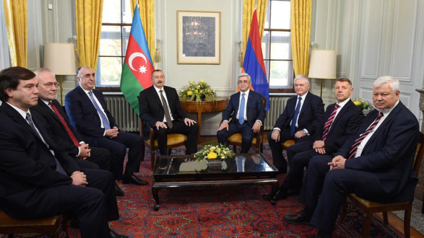 Саргсян и Алиев обсудили Карабах в Женеве