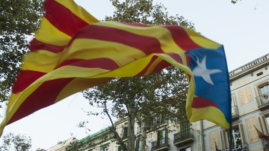 ВБарселоне началась акция вподдержку независимости Каталонии