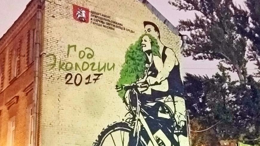 Москвичам напомнили об экологии с помощью граффити