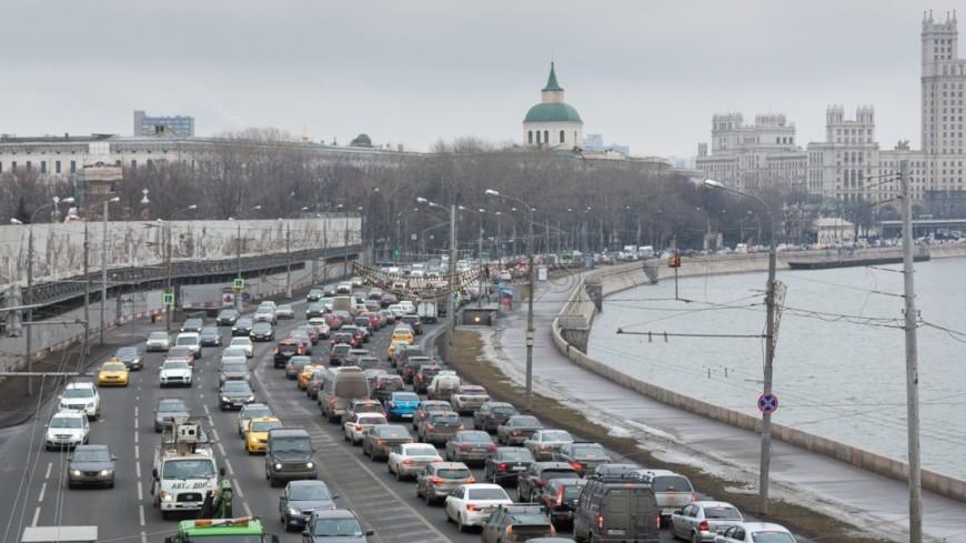 По дорогам Москвы ездит четыре миллиона машин
