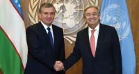 Шавкат Мирзиеев пригласил генсека ООН Гутерриша в Самарканд