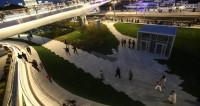 В парке «Зарядье» включили «умное» освещение