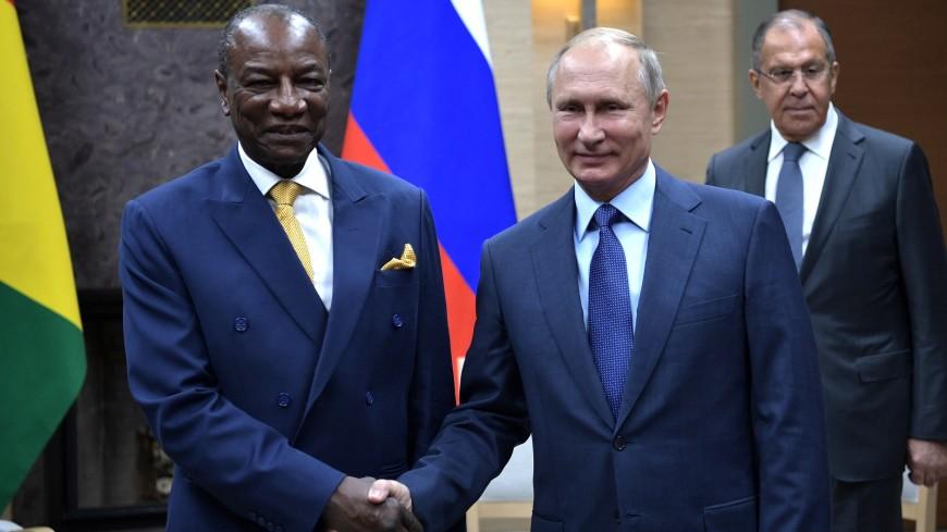 Президент Гвинеи поблагодарил Владимира Путина запомощь вборьбе сЭболой