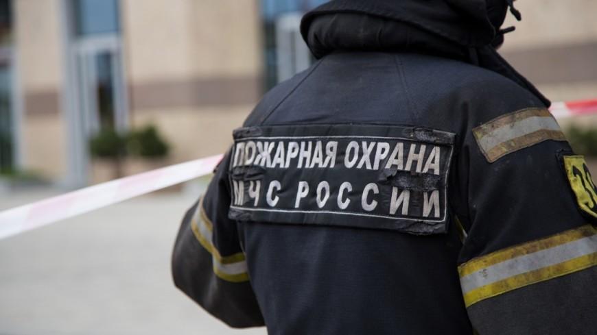 Пожар на складе у площади Киевского вокзала