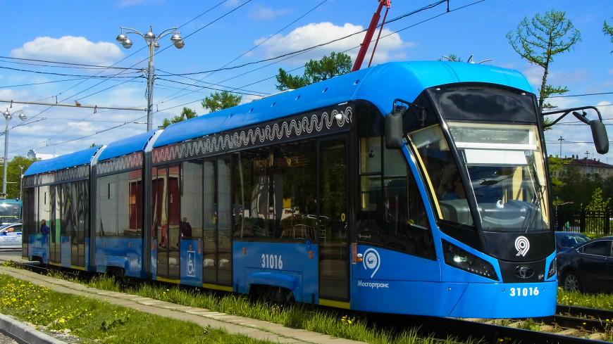 На московские улицы вышли десятки трамваев «Витязь-М»