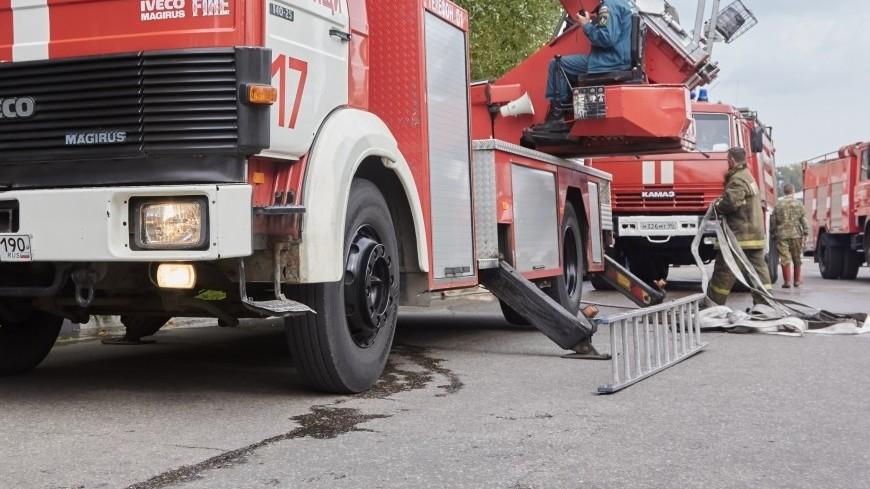 Возгорание зафиксировали назакрытом полигоне ТБО «Аннино» вРузском округе