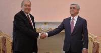 Армен Саргсян пожелал Сержу Саргсяну успехов на посту премьера