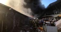 Горы обугленного пластика: хроника пожара на рынке в Нальчике
