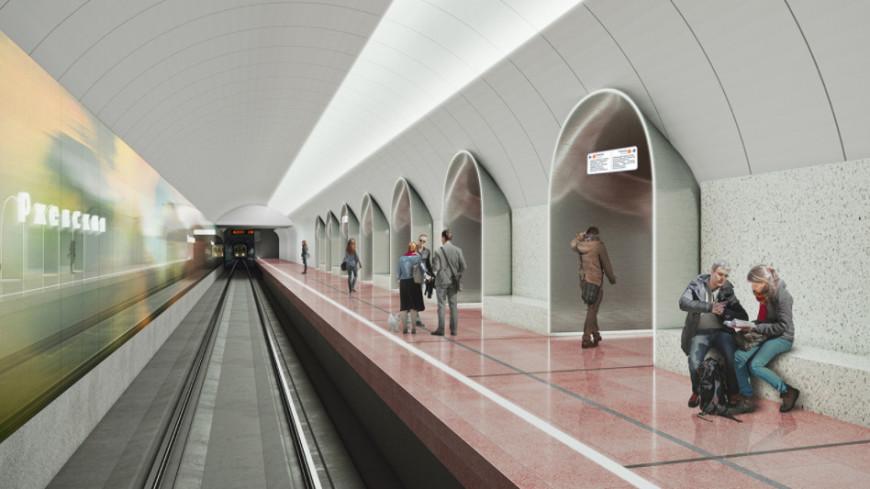 В Москве начали строить вестибюль станции метро «Ржевская»