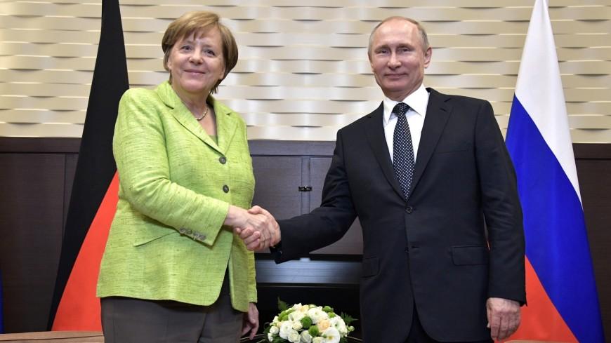 Путин и Меркель продолжат работу по Украине в нормандском формате