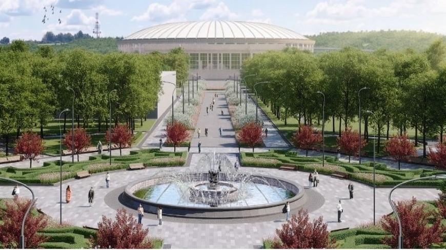 В «Лужниках» завершилась реконструкция фонтана «Каменный цветок»
