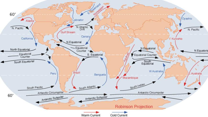 Северо-Атлантическое течение снизило скорость до минимума