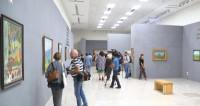В Астане показали картины-пейзажи родины Нурсултана Назарбаева
