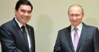 """Фото: """"Пресс-служба президента России"""":http://kremlin.ru/, гурбангулы бердымухамедов и путин"""