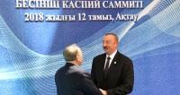 Назарбаев и Алиев отметили важность нового мультимодального хаба на Каспии