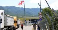 Граница Грузии,Грузия, граница, таможня, фура, грузовик,