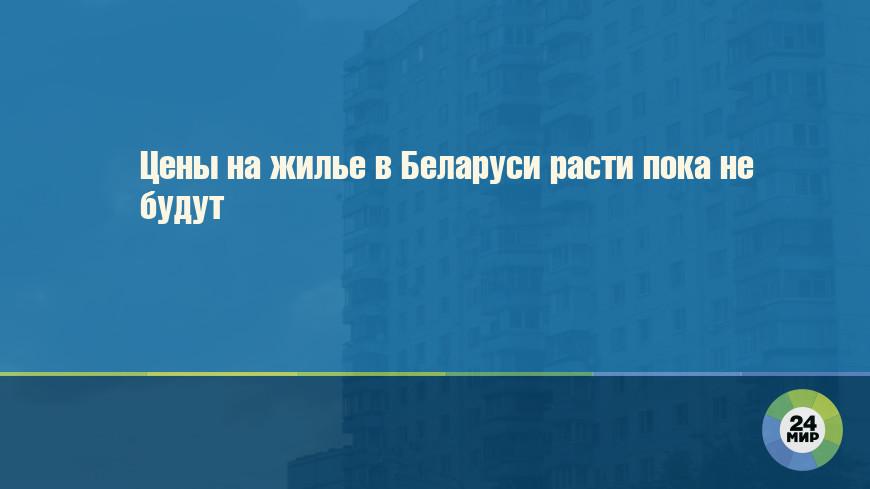 Цены на жилье в Беларуси расти пока не будут