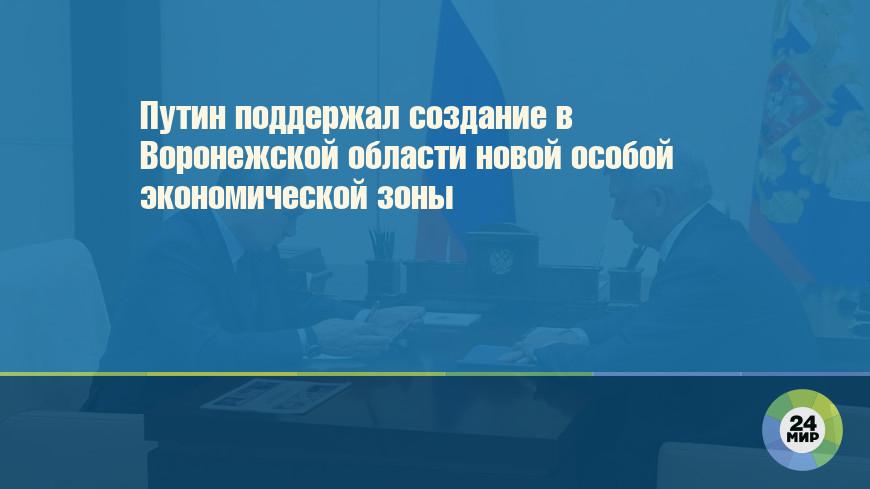 Путин поддержал создание в Воронежской области новой особой экономической зоны