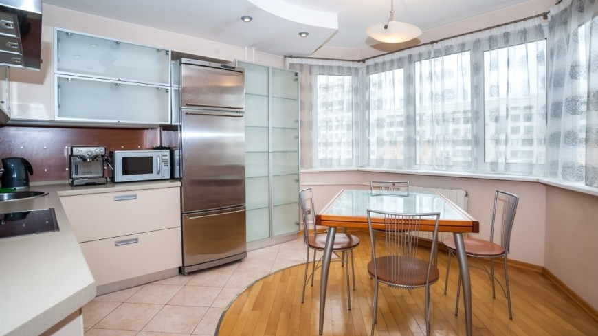 Квартира,интерьер, квартира, кухня, столовая, стол, ,интерьер, квартира, кухня, столовая, стол,
