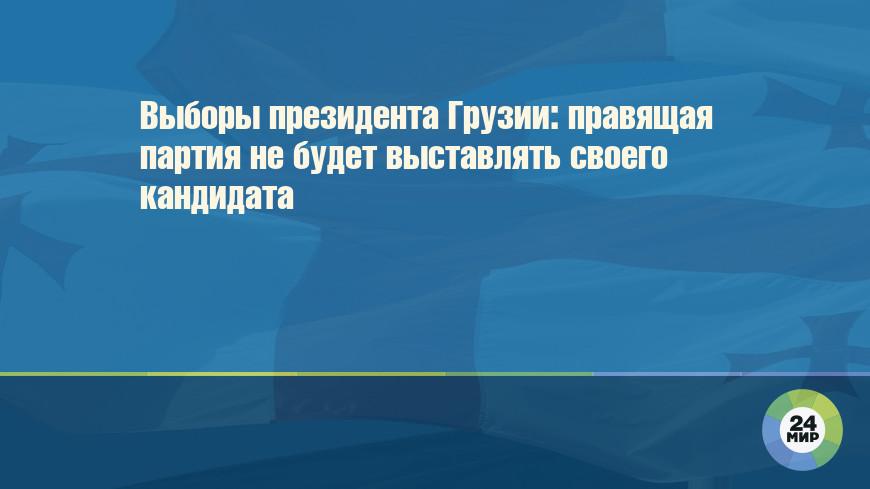 Выборы президента Грузии: правящая партия не будет выставлять своего кандидата