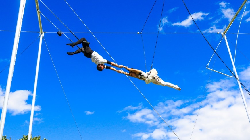 В парке Горького состоится третий фестиваль воздушной гимнастики