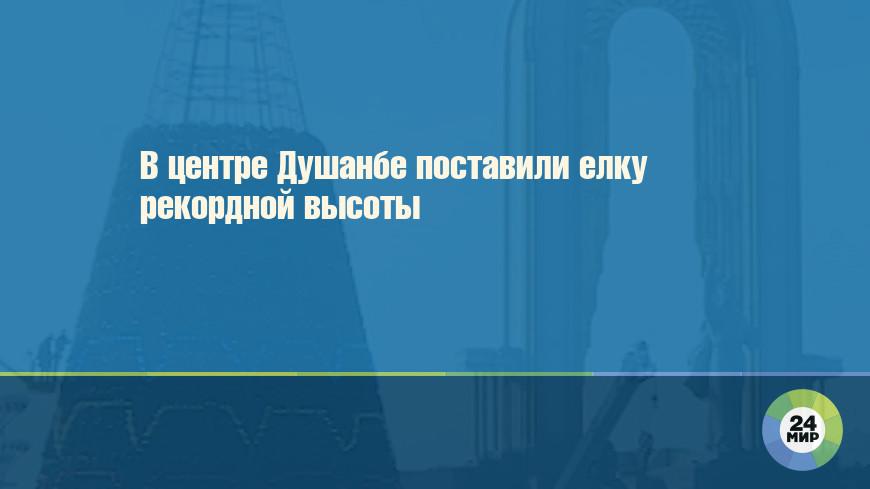 В центре Душанбе поставили елку рекордной высоты