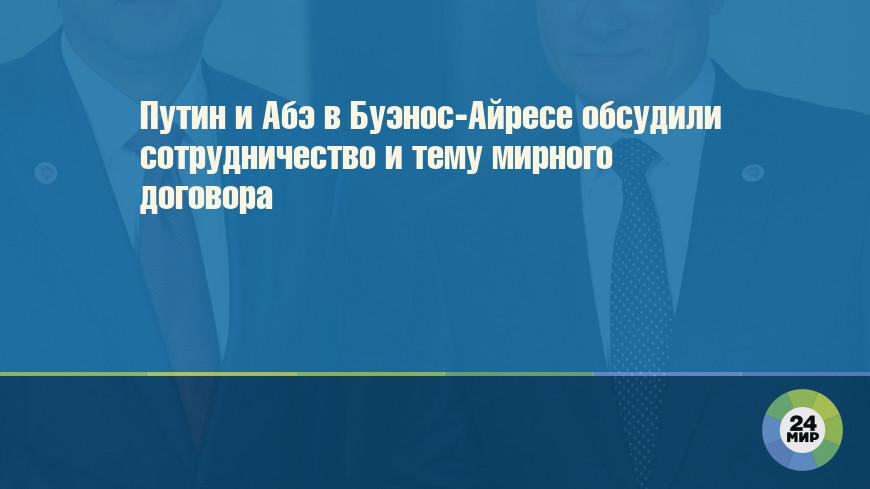 Путин и Абэ в Буэнос-Айресе обсудили сотрудничество и тему мирного договора
