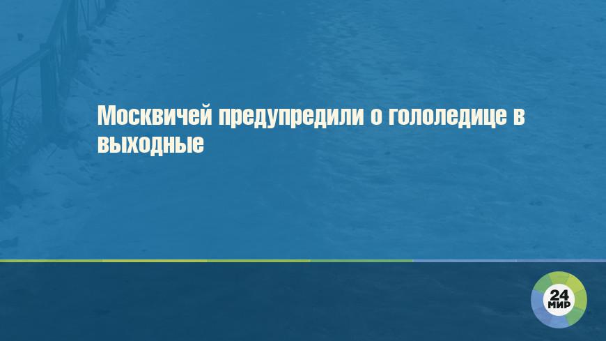 Москвичей предупредили о гололедице в выходные