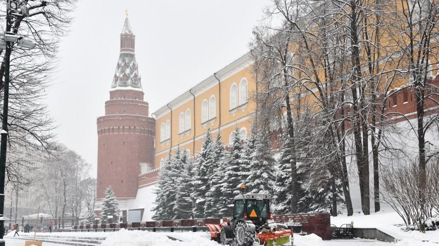 Выпавший за ночь снег останется на улицах Москвы до весны