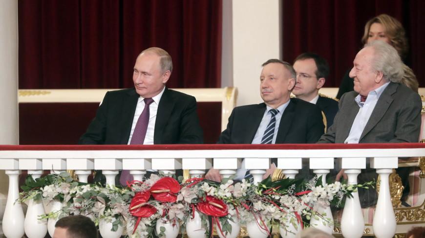 Путин посмотрел в филармонии гала-концерт в честь 80-летия Темирканова