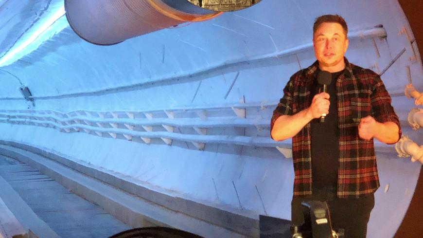 Маск открыл первый подземный тоннель под Лос-Анджелесом