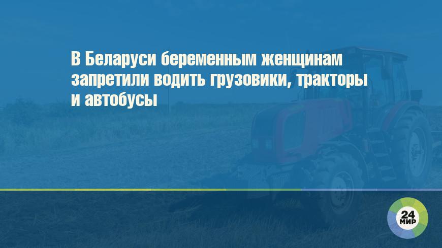 В Беларуси беременным женщинам запретили водить грузовики, тракторы и автобусы