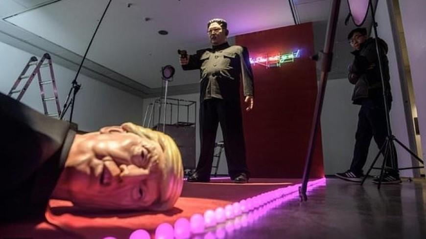 The Show Must Go On: Ким Чен Ын застрелил Трампа в сатирической инсталляции