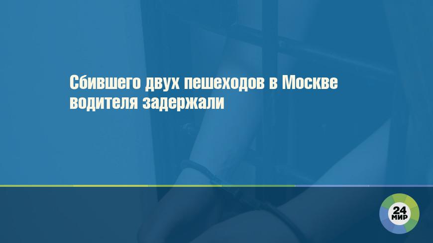 Сбившего двух пешеходов в Москве водителя задержали