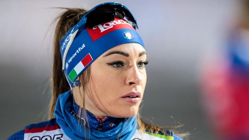 Итальянская биатлонистка увидела безумие в глазах российских фанатов