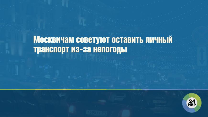 Москвичам советуют оставить личный транспорт из-за непогоды