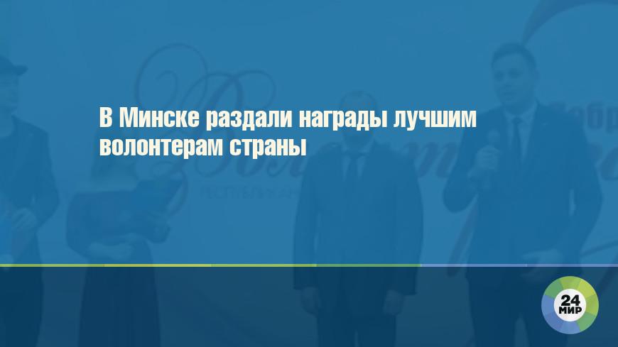 В Минске раздали награды лучшим волонтерам страны